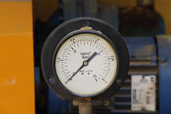 Pressure gauge of water pump Stock Image
