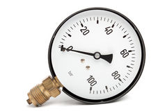Pressure Gauge  On White Royalty Free Stock Photography