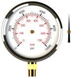 Pressure Gauge With Needle Stock Photos