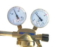 Pressure Gauges Stock Photo