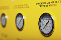 Pressure gauges Stock Images