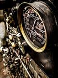 Pressure gauges aboard submarine ship royalty free stock photos