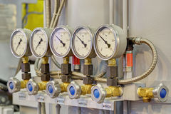 Pressure gauges Stock Photos
