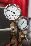 2 pressure gauges Royalty Free Stock Photos