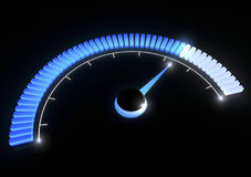 Pressure gauges temperature speed performance. Pressure gauge on a black background Stock Photos