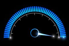 Pressure gauges temperature speed performance Royalty Free Stock Images