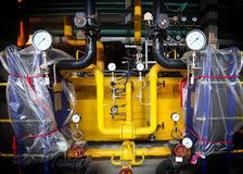 Pressure gauges and valves Stock Image