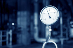 Pressure gauges and valves Stock Photos
