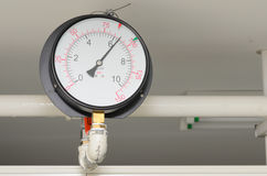 The pressure guage on wall Royalty Free Stock Photo