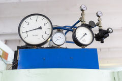 Pressure indicators in a lab Stock Photography