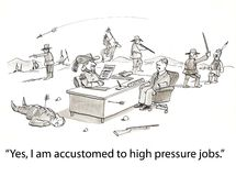 Pressure jobs Stock Photography