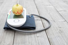 Pressure measuring device and apple stock photos