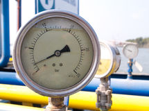 Pressure meter scale  Royalty Free Stock Images