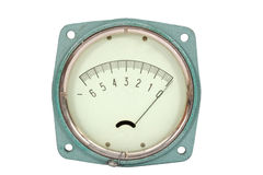 Pressure meter. Isolated on white background, with clipping path Royalty Free Stock Images