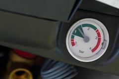 Pressure meter. Closeup of a pressure meter Royalty Free Stock Photography