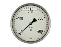Pressure meter gauge. On white background isolated royalty free stock photo