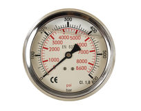 Pressure meter gauge. On white background isolated royalty free stock images