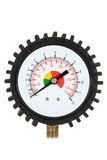 Pressure meter (isolated) Stock Photo
