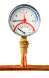 Pressure meter isolated Stock Photography