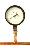 Pressure meter isolated Royalty Free Stock Photos