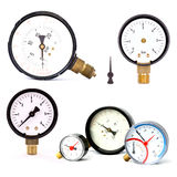 Pressure meters isolated Stock Photos