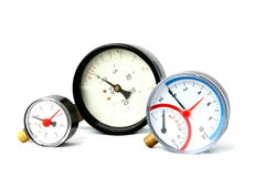 Pressure meters isolated Stock Image