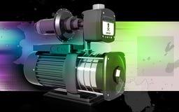 Pressure pump. Digital illustration of pressure pump in colour background Stock Photos
