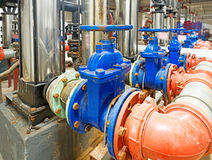 Pressure pump for running water Stock Photos