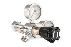 Pressure regulator with reducing valve, 3D rendering Royalty Free Stock Image