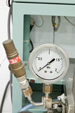 Pressure release valve and pressure gage Royalty Free Stock Photos