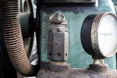 The Pressure Safety Valve in air compressor.  royalty free stock photo