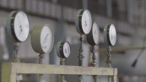 Pressure sensors in the engine room stock footage