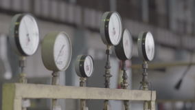 Pressure sensors in the engine room stock footage