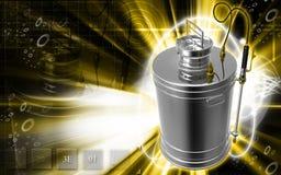 Pressure sprayer. Digital illustration of a Pressure sprayer in colour background stock illustration