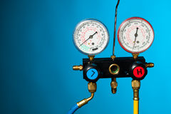 Pressure and temperature control meter Royalty Free Stock Photography