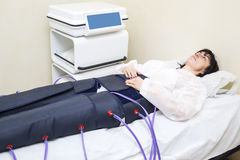 Pressure therapy procedure Stock Photo