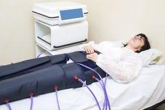 Pressure therapy procedure Stock Photo
