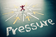 Pressure toward the man. Stock Photo