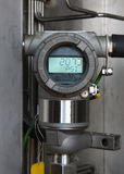 Pressure transmitter in oil and gas process Stock Photography