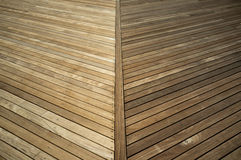 Pressure treated wood deck before and after Stock Photos