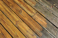 Pressure washed boards on a diagonal royalty free stock photos