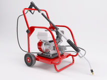 Pressure washer. 3d render of a pressure washer Royalty Free Stock Image