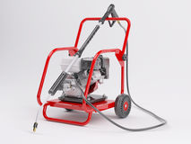 Pressure washer. 3d render of a pressure washer Stock Images