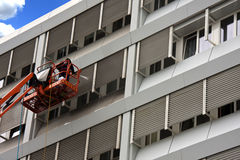 Pressure washing. An office building Stock Image