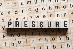 Pressure word concept stock photos