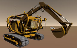 Pressurised Excavator Royalty Free Stock Photography