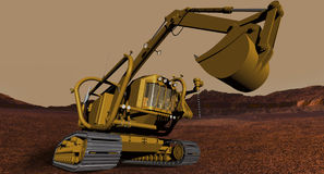 Pressurised Excavator Royalty Free Stock Images