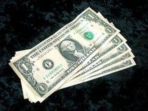 Prestígio da conta de dólar de 5 americanos imagens de stock