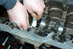 Prestação da bandeja no motor Fotografia de Stock