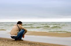 Prestando atenção ao mar Imagem de Stock Royalty Free